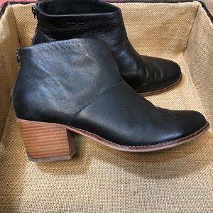 TOMS Black Leather Booties